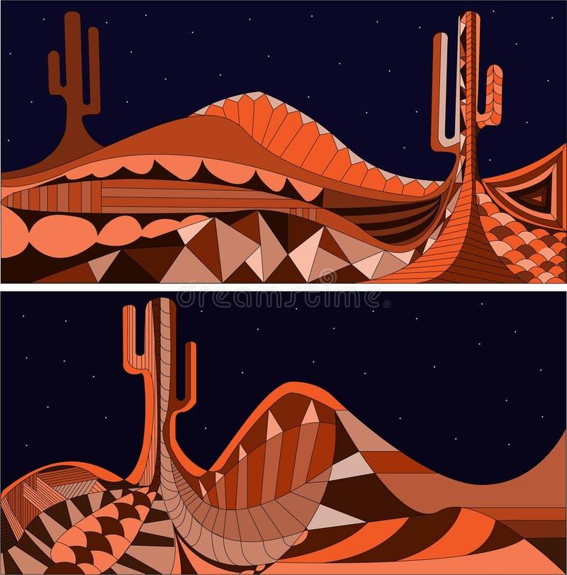 Min version av den latinamerican natten royaltyfri illustrationer
