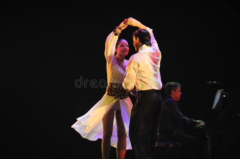 Mina ögon dig endast - Identiteten av dentango dansdramat royaltyfri bild
