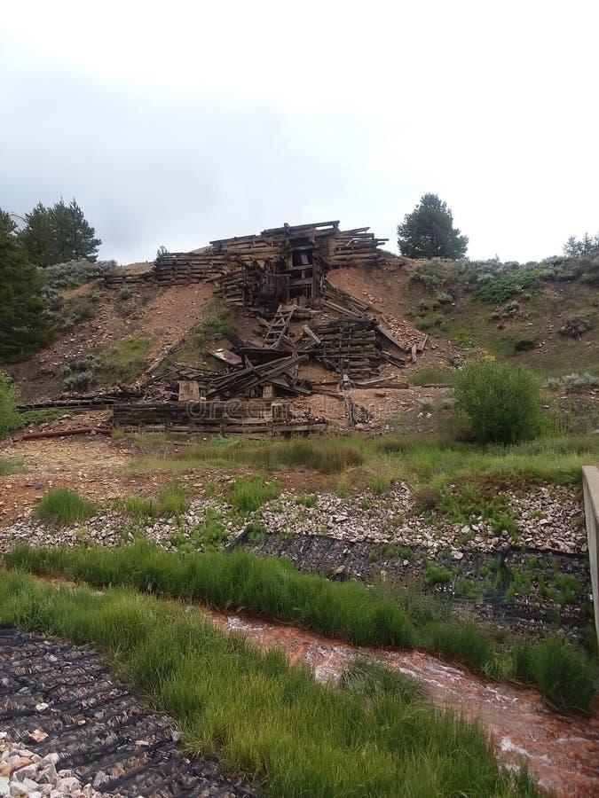 Mina abandonada en Leadville Colorado imágenes de archivo libres de regalías