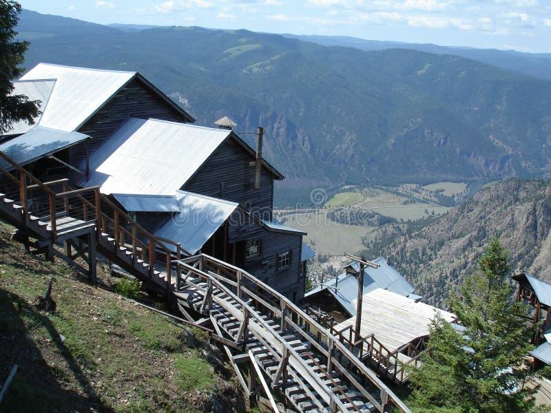 Mina da herança acima do vale de Similkamine fotografia de stock