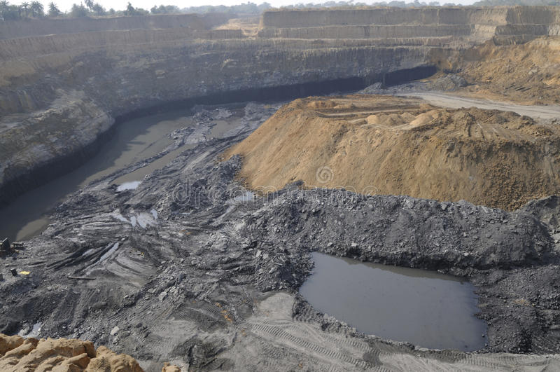Mina de carbón. imagen de archivo