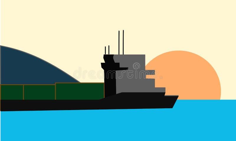 Mina de carbón del petrolero foto de archivo