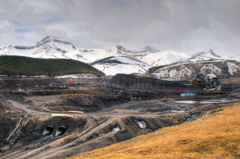 Mina de carvão fotografia de stock royalty free
