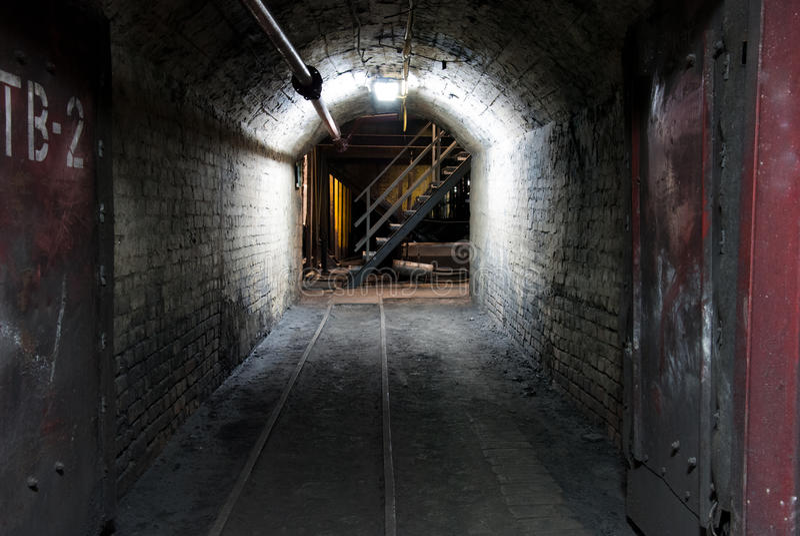 Mina de carvão moderna imagem de stock