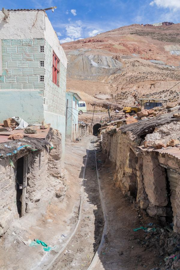 Mina de Cerro Rico en Potosi imagenes de archivo