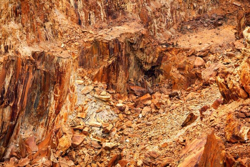 Mina de cobre abandonada foto de stock