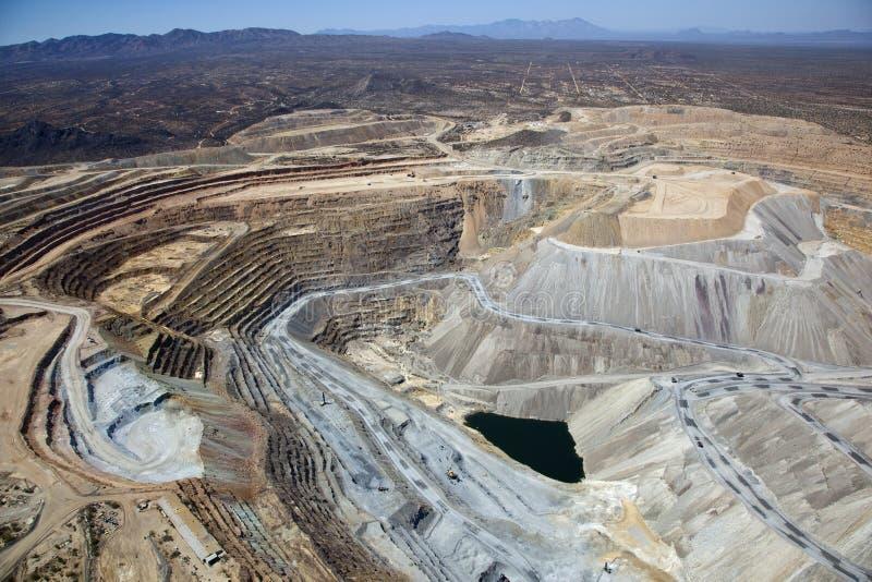 Mina de cobre de poço aberto imagem de stock