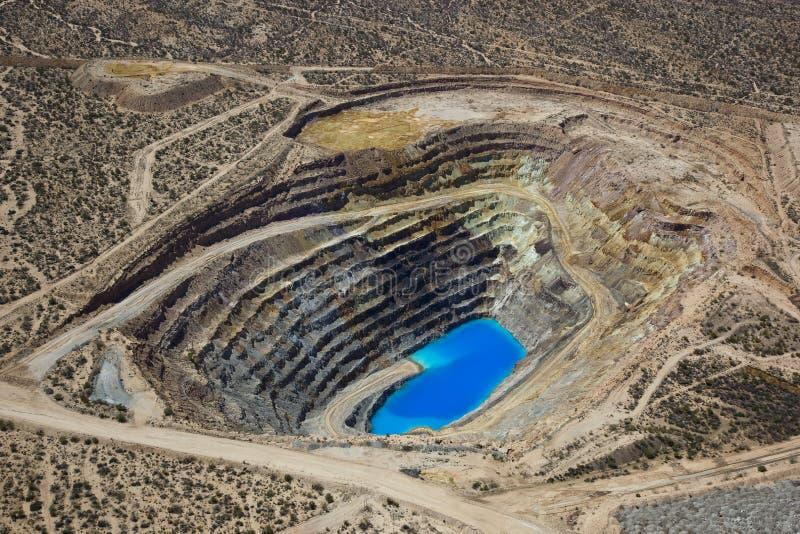 Mina de cobre de poço aberto imagem de stock royalty free