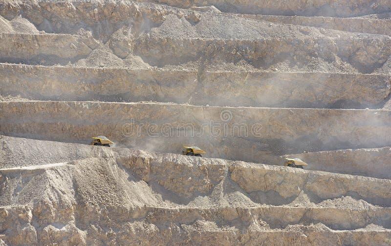 Mina de cobre de poço aberto fotografia de stock royalty free