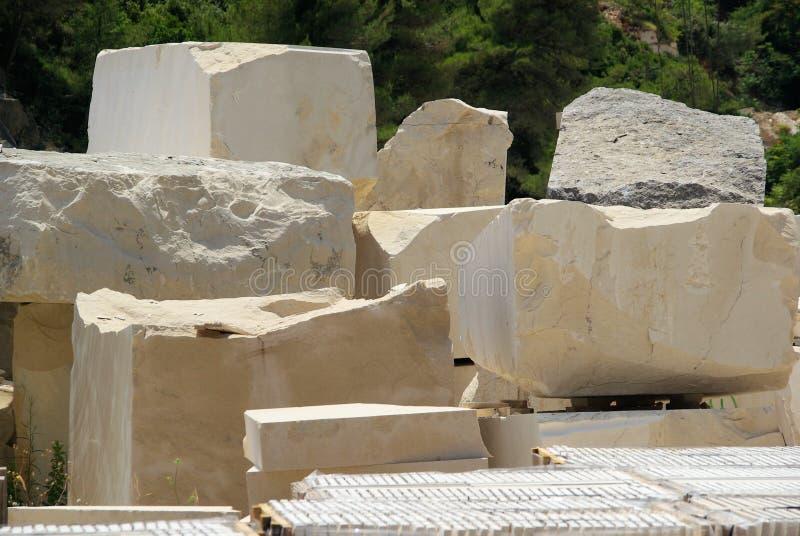 Mina de mármol imagenes de archivo