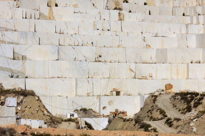 Mina de mármol cerca de Caravaca de la Cruz, España fotos de archivo