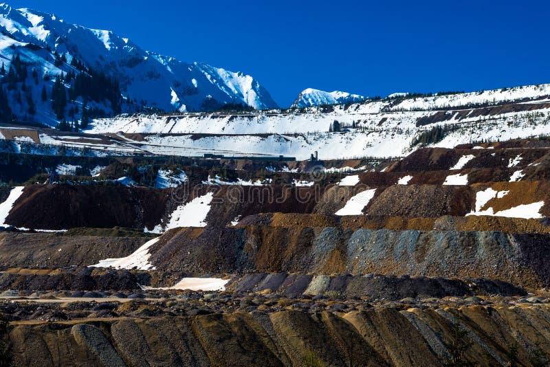 Mina de mineral a cielo abierto en Erzberg en Austria imagen de archivo libre de regalías