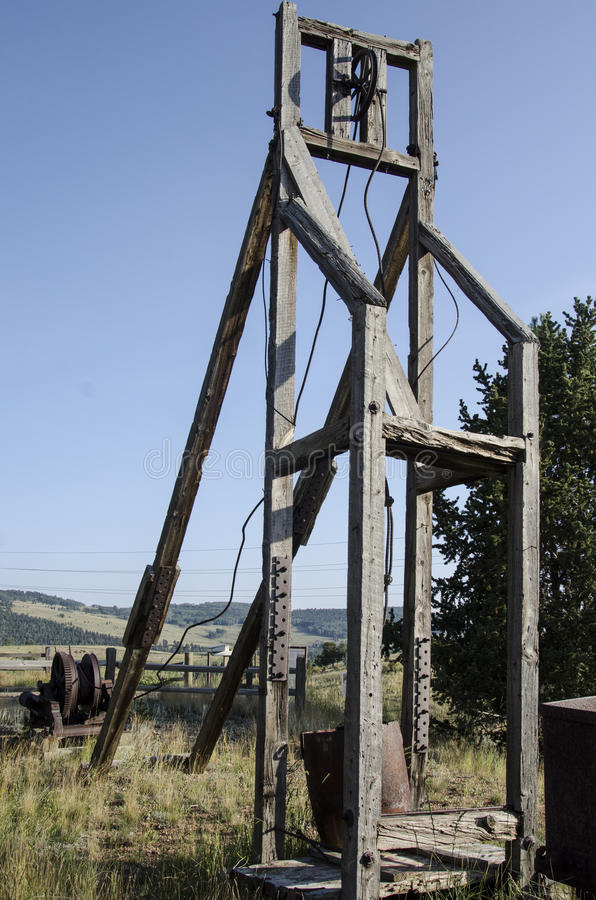 Mina de oro abandonada vieja situada en Victor Colorado fotos de archivo libres de regalías