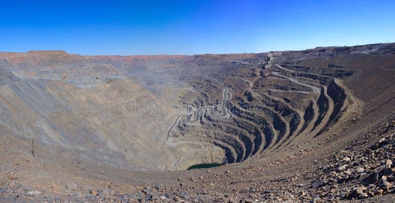 Mina de oro a cielo abierto foto de archivo