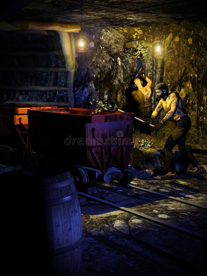 A mina de ouro ilustração stock