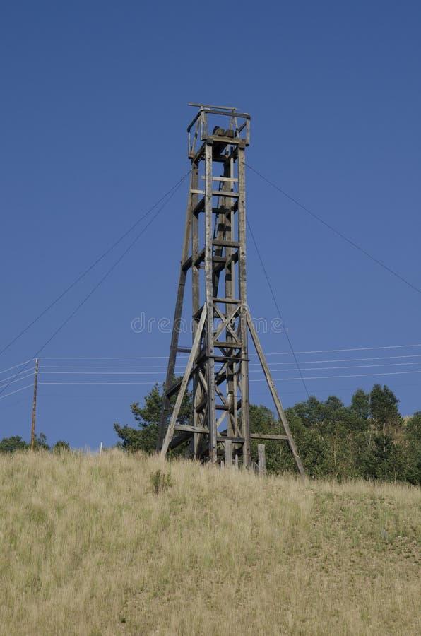 Mina de ouro abandonada velha situada em Victor Colorado fotografia de stock royalty free