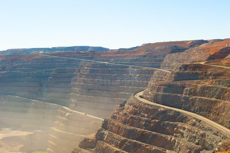Mina de ouro aberta do corte do poço super de Kalgoorlie da vista aérea imagem de stock royalty free