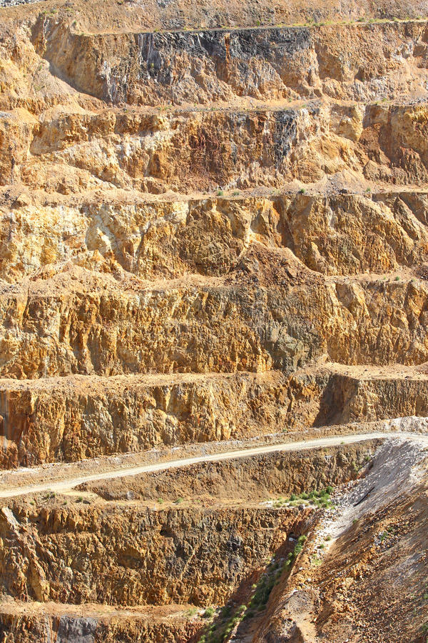 Mina de ouro - casta aberta 2 fotos de stock royalty free