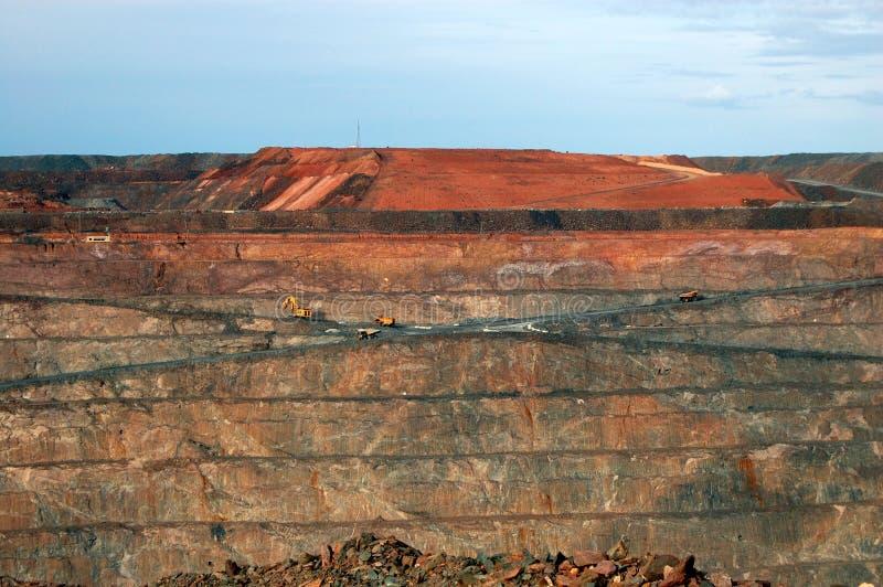 Mina de ouro em Austrália imagem de stock