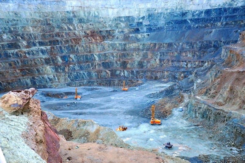 Mina de ouro em Rosia Montana, Romênia foto de stock