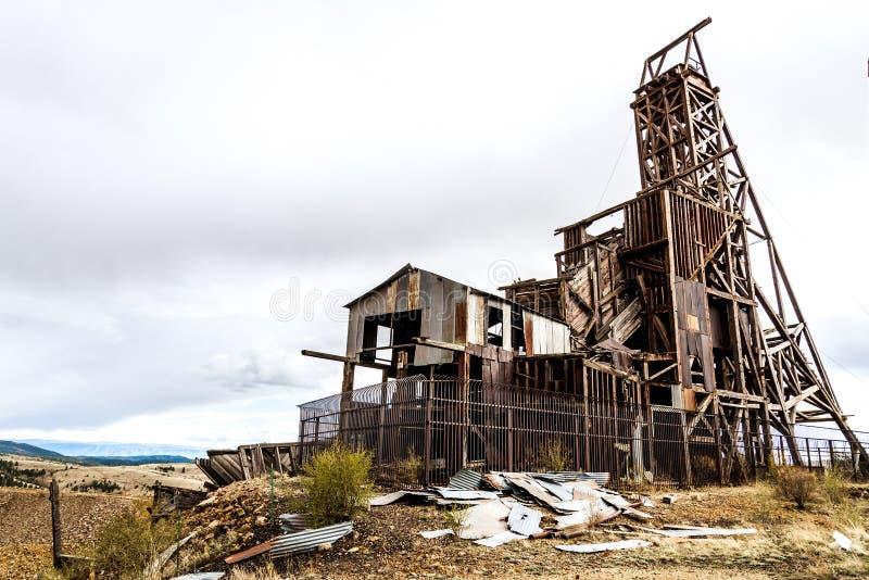 Mina de ouro histórica no vencedor Colorado fotos de stock royalty free