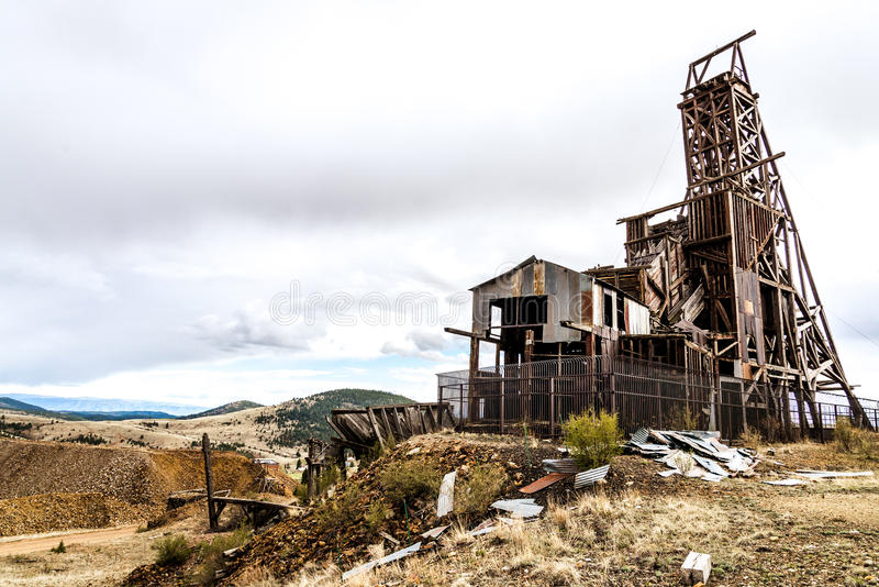 Mina de ouro histórica no vencedor Colorado foto de stock royalty free