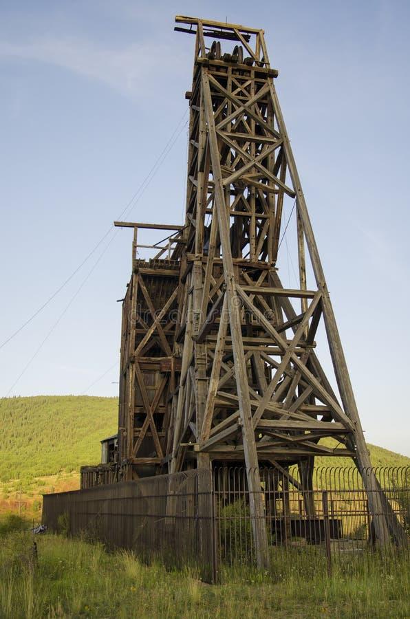 Mina de ouro histórica no vencedor Colorado fotos de stock