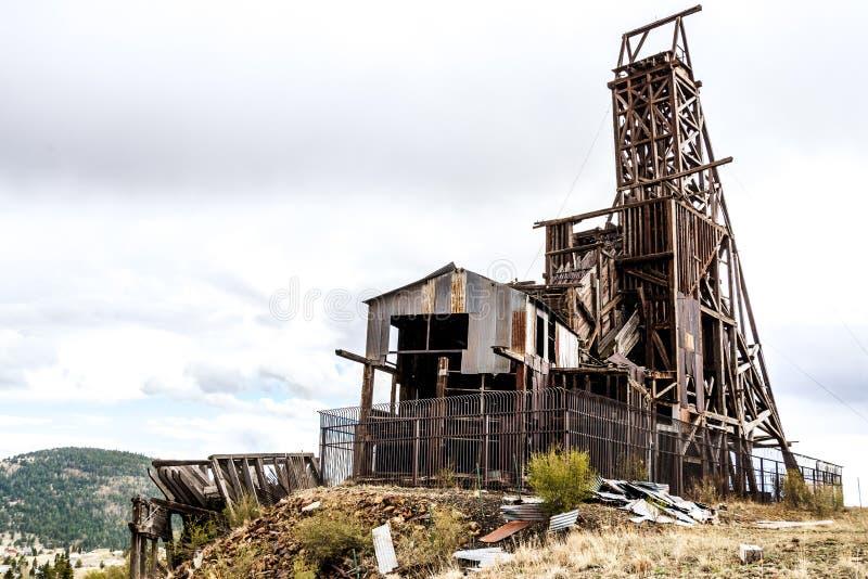 Mina de ouro histórica no vencedor Colorado foto de stock