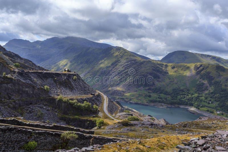 Mina de pizarra de Snowdon y de Dinorwig fotografía de archivo