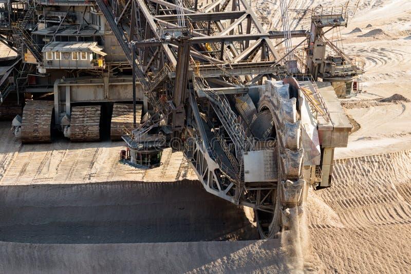 Mina de poço aberto da máquina escavadora da mineração da roda fotografia de stock