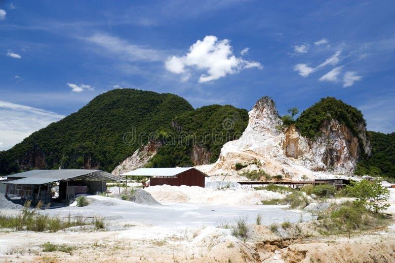 Mina de roca del granito foto de archivo