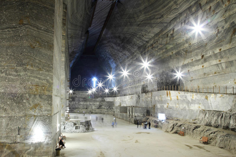 Mina de sal de Slanic - Unirea foto de archivo