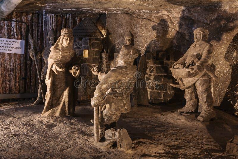 Mina de sal de Wieliczka imagem de stock royalty free