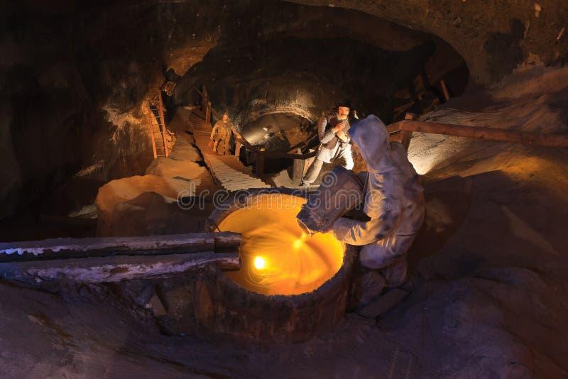Mina de sal de Wieliczka fotos de stock royalty free