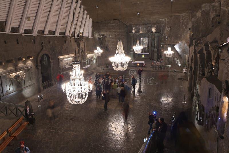 Mina de sal de Wieliczka fotografia de stock