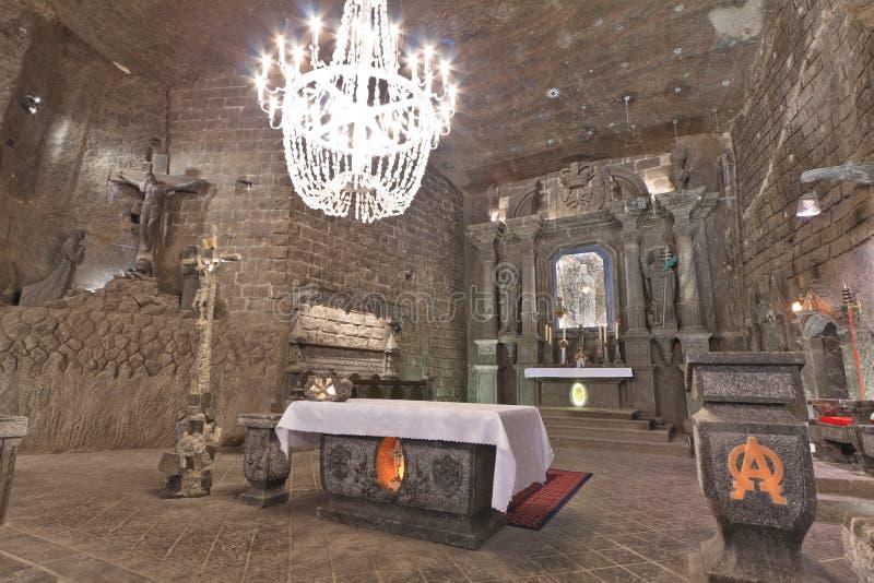 Mina de sal de Wieliczka foto de stock