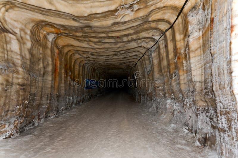 Mina de sal em Soledar, Donetsk, Ucrânia imagem de stock