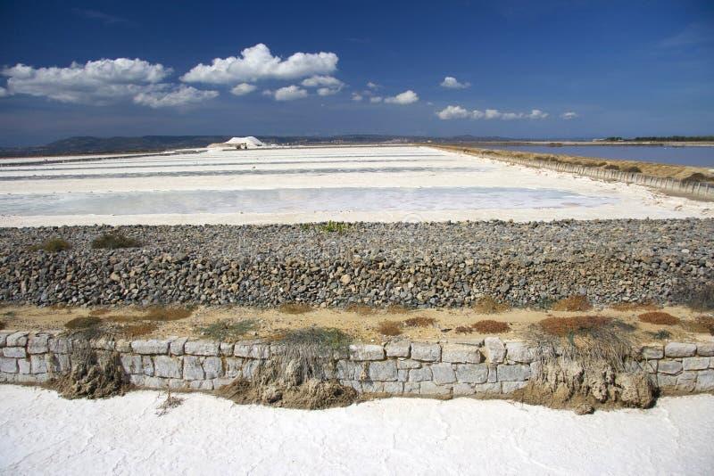 Mina de sal en Cerdeña fotos de archivo