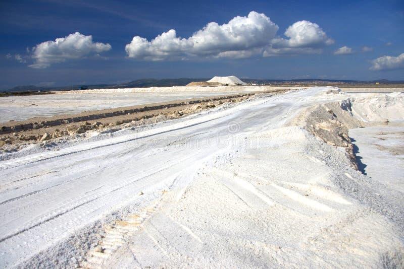 Mina de sal en Cerdeña imagen de archivo libre de regalías
