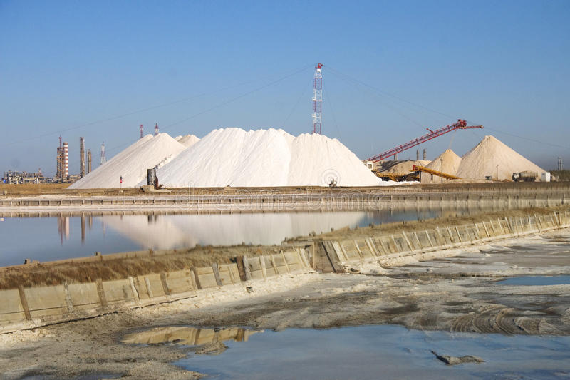 Mina de sal en Cerdeña foto de archivo
