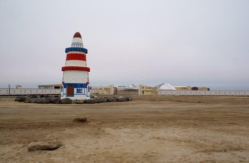 Mina de sal en Namibia imágenes de archivo libres de regalías