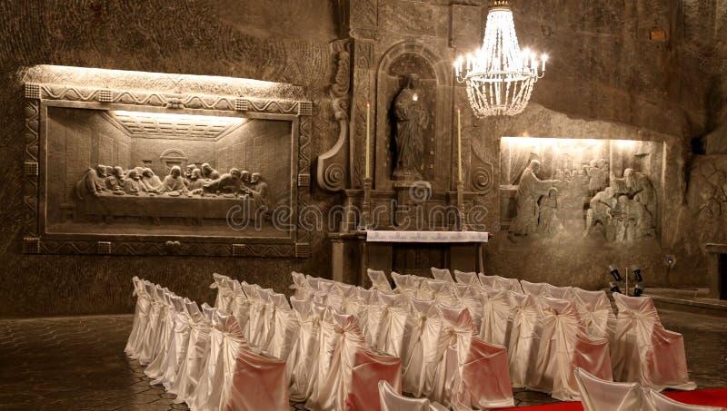 Mina de sal krakow de Wieliczka foto de stock royalty free