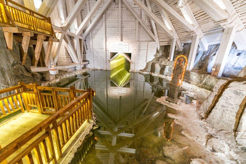 Mina de sal de Wieliczka no Polônia foto de stock royalty free