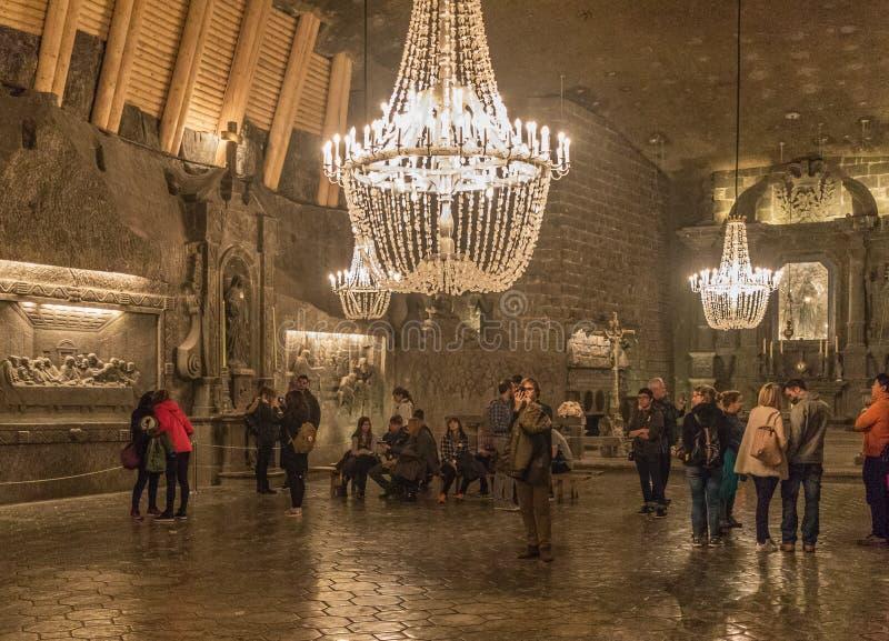 A mina de sal de Wieliczka, Polônia imagem de stock