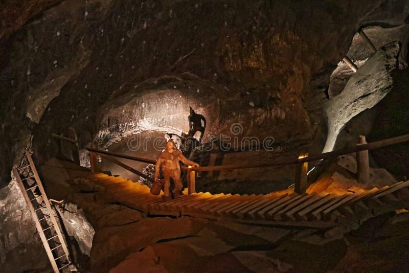 Mina de sal de Wieliczka, Polonia fotografía de archivo libre de regalías