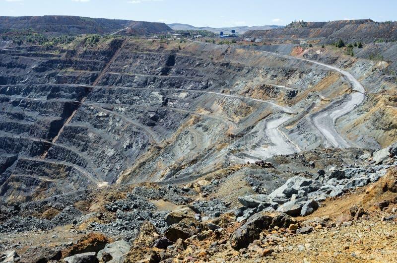 Mina del mineral de cobre foto de archivo libre de regalías