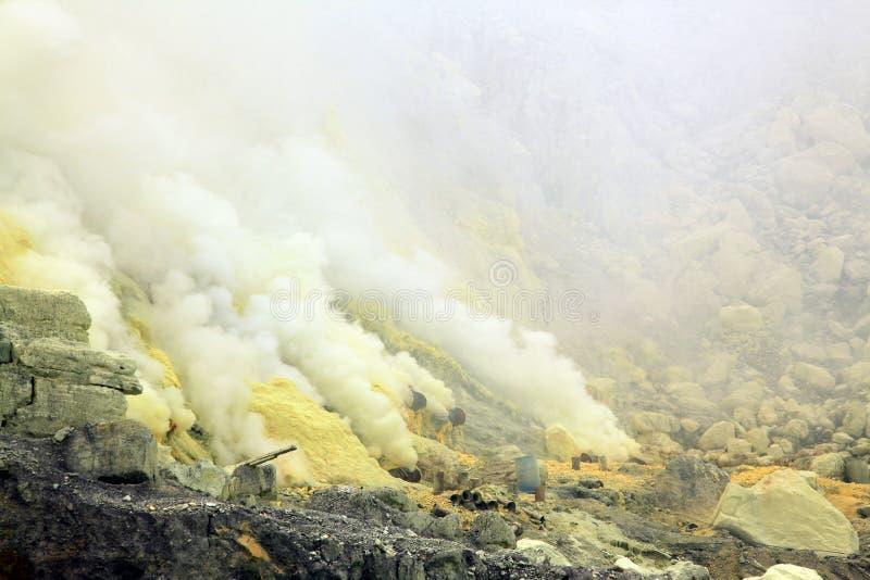 Mina del sulfuro imagen de archivo
