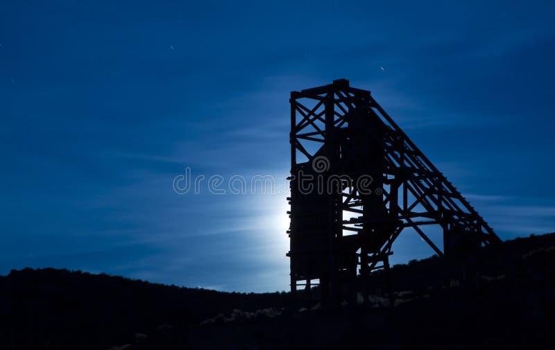 Mina do nighttime fotografia de stock