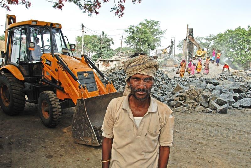 Mina do triturador em India foto de stock
