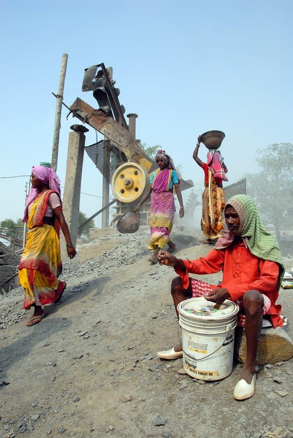 Mina do triturador em India fotografia de stock royalty free